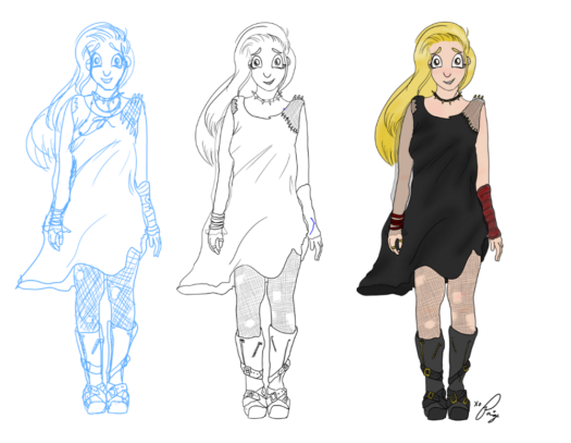 Progress of her character, Isabell!